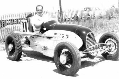 sprint car races at hutchinson kansas on october 5 1952. Black Bedroom Furniture Sets. Home Design Ideas