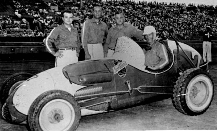 Sprint car races at hutchinson kansas on september 21 1954 for Rose motors hutchinson ks