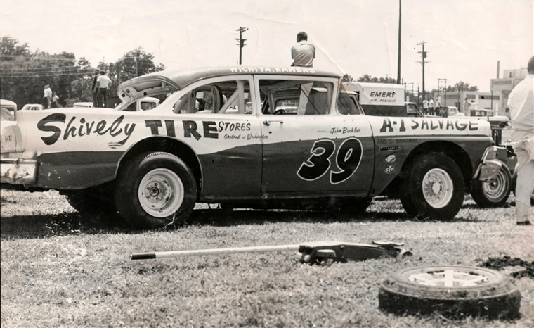 Buddy hill distroyed this 39 ford stock car in a crash at for Winfield motors wichita ks
